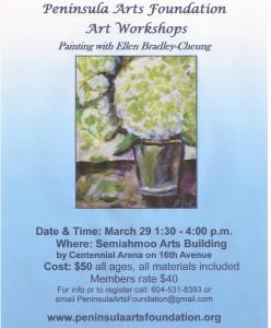 March 29 Painting workshop Hydrangeas